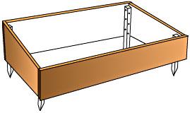ch ssis de jardin et couches chaudes. Black Bedroom Furniture Sets. Home Design Ideas