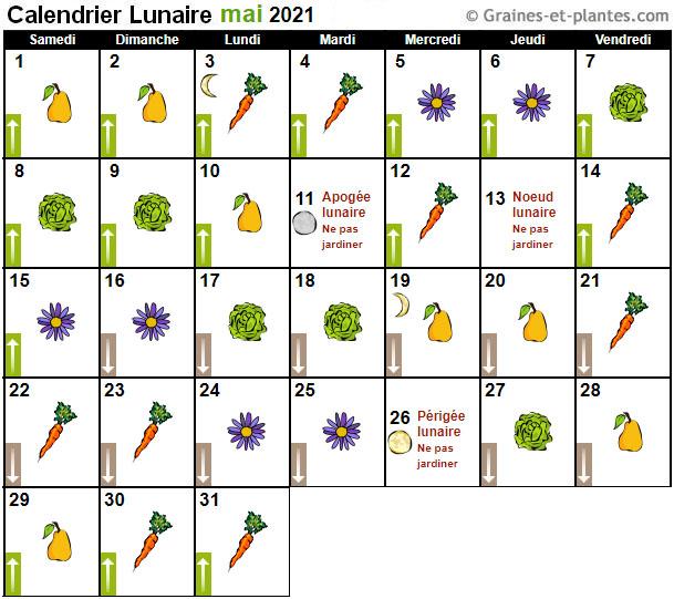 Calendrier Lunaire Graines Et Plantes Juin 2022 Calendrier lunaire mai 2021