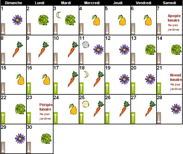 calendrier lunaire novembre 2015