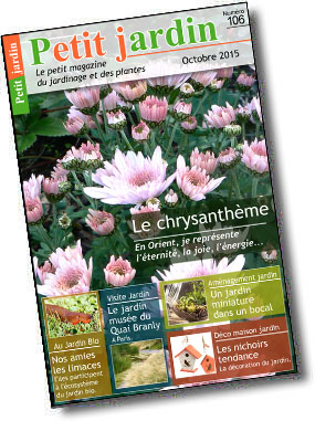 Magazine petit jardin n 106 octobre 2015 jardinage for Magazine jardinage