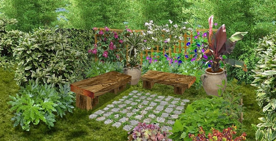 Am nager et concevoir un jardin pictures to pin on pinterest for Amenager un jardin