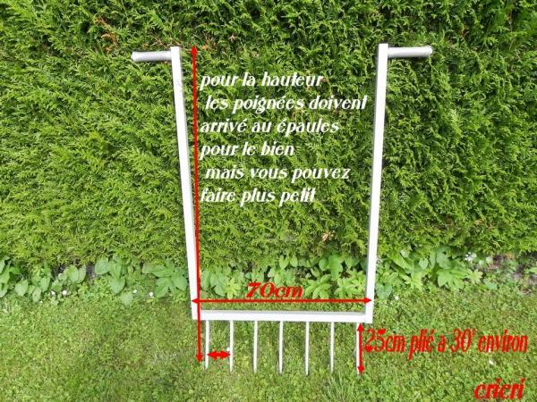 Question jardin grelinette for Fabriquer une arche de jardin
